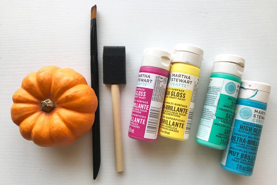 NoCarve Pumpkin Decorating Ideas OOLY - How to paint a pumpkin