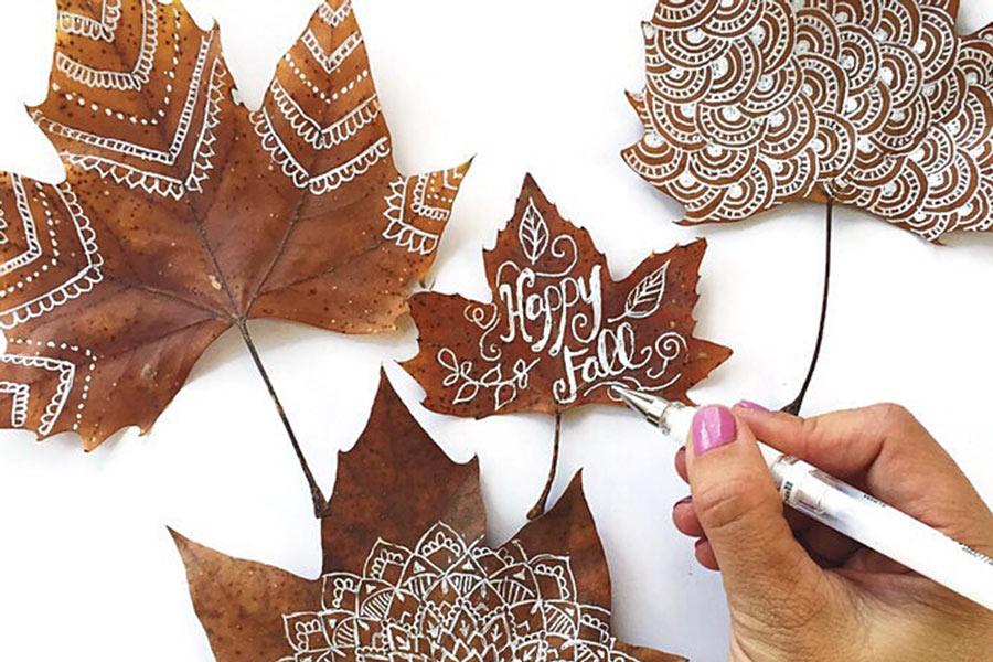 4 simple ways to make incredible art on leaves