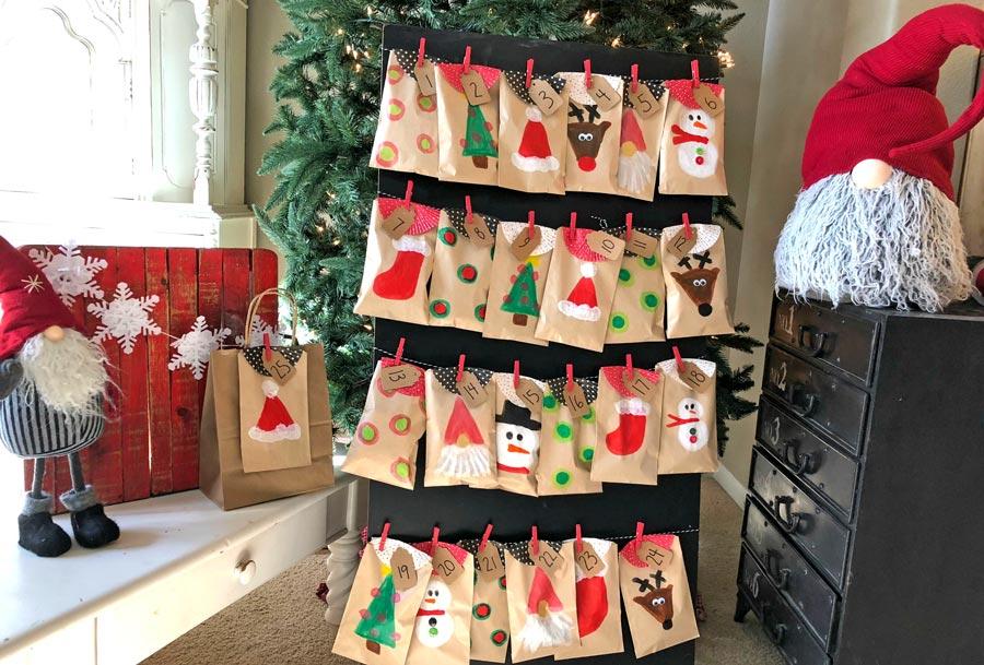 Image of a DIY holiday advent calendar