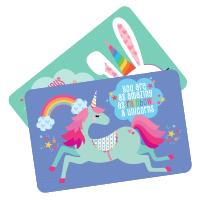 unique unicorns postcards
