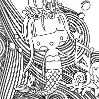 OOLY mermaid coloring pages