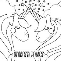 OOLY Unique Unicorns Coloring Page