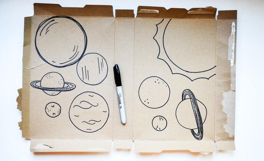 diy solar system with recycled cardboard