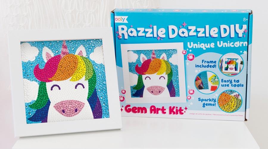 razzle dazzle diy kit and completed unicorn
