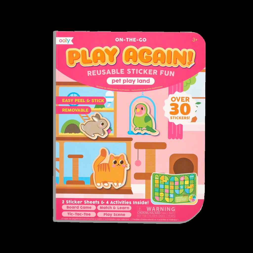 pink play again book