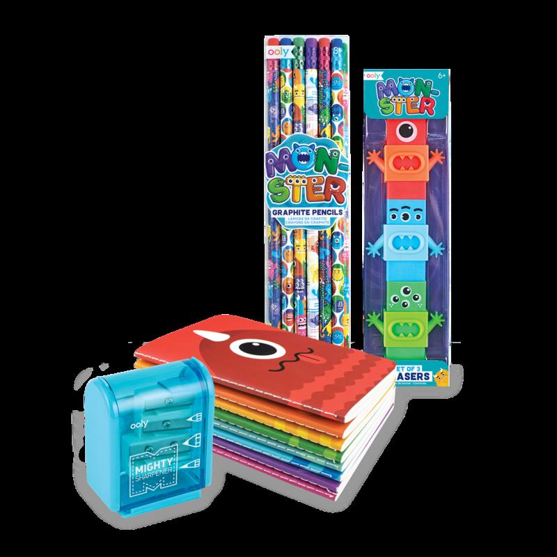 monster themed school supplies