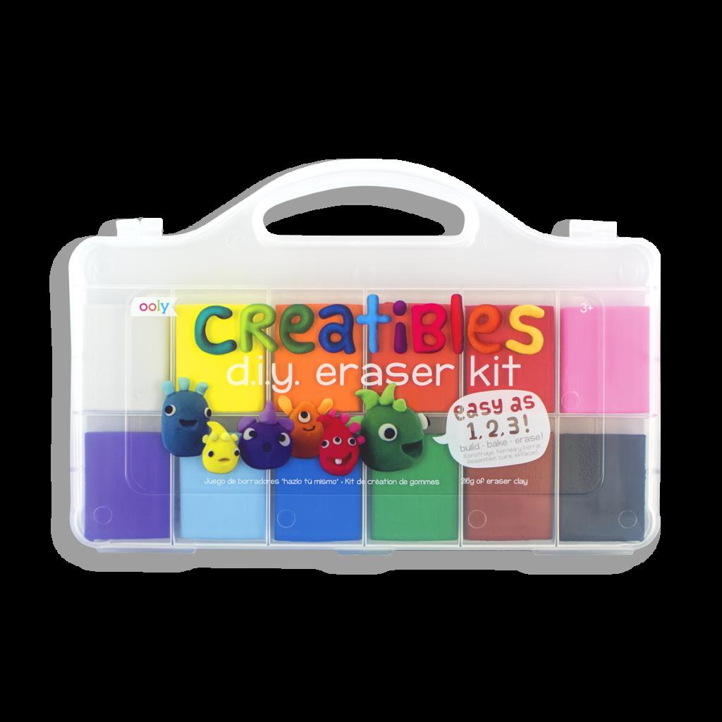 creatibles diy eraser kit with rainbow colors